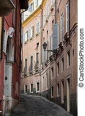 città, italia, centro, verona., storico, strada