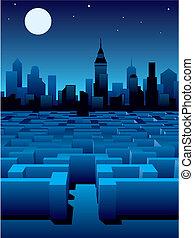città, labirinto
