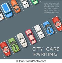 città, lotto, parcheggio