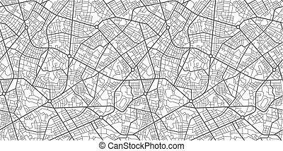 città, mappa, strada