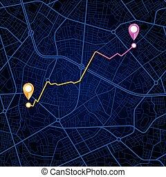 città, navigazione, mappa