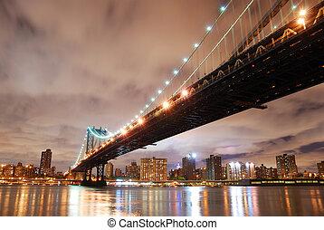 città new york, ponte manhattan