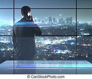 città, nightlife, uomo