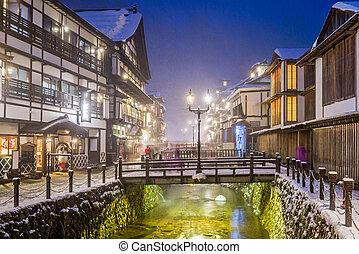 città, primavere, caldo, giapponese