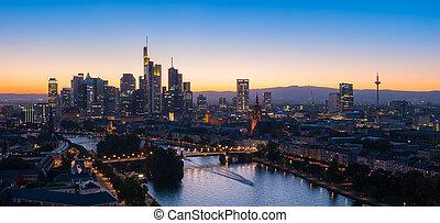 città, principale, francoforte, vista