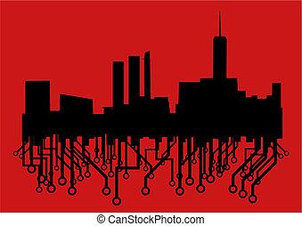 città, rosso