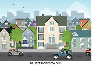 città, scenario