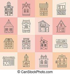 città, set, architettura