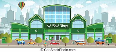 città, shopping