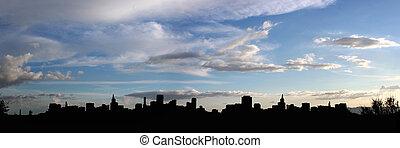 città, silhouette
