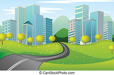 città, strada stretta