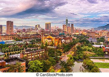 città, taiwan, orizzonte