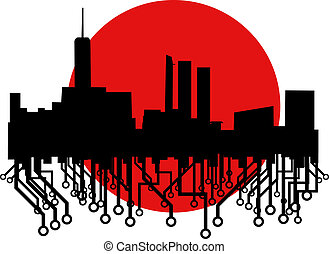 città, tecnologia