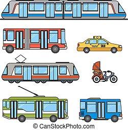 città, tipi, trasporto