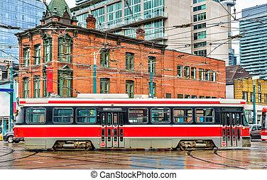 città, tram, in, toronto, regina, st, ovest, -, spadina, ave
