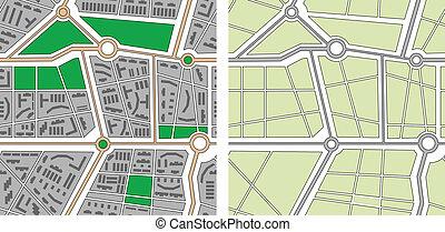 città, vettore, seamless, mappa