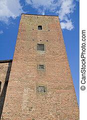 citt?, fortress., perugia., umbria., pieve., della