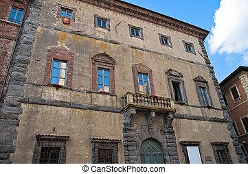 citt?, palace., umbria., corgna, pieve., della