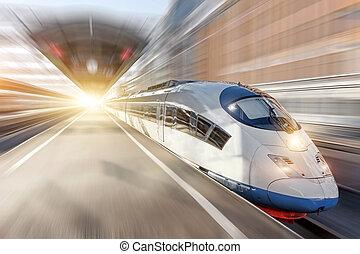 city., καβαλλικεύω , τρένο , ψηλά , θέση , σιδηρόδρομος , ταχύτητα