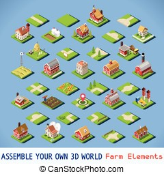 City 03 COMPLETE Set Isometric - City Map Elements COMPLETE...