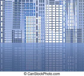 City abstract background, vector