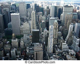 City - Aerial city shot