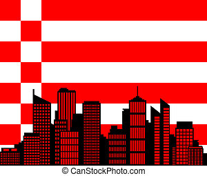 City and flag of Bremen