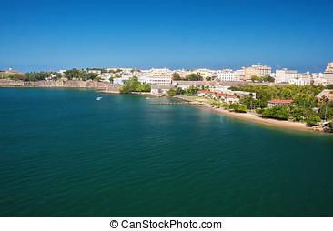 San Juan, Puerto Rico - City and harbor of San Juan, Puerto...