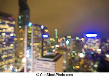 City at night blur image