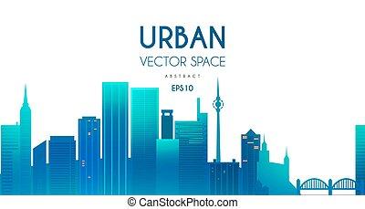 City Background. Urban illustration. Cityscape silhouette.