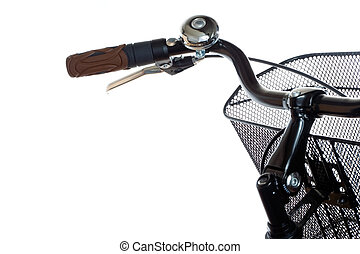 City bicycle handlebar - Handlebar with basket and ring of...