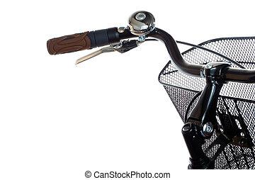 City bicycle handlebar - Handlebar with basket and ring of...