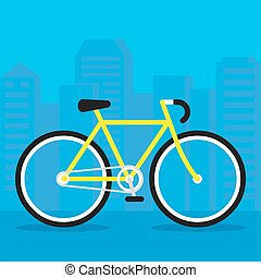 City bicycle illustration