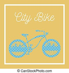City Bicycle. Vintage Bike Background. Vector illustration