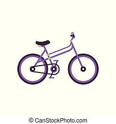 City bike, modern bicycle vector Illustration