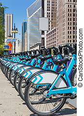 City bikes rent parking in NYC