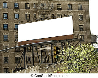 City BillBoard - This is a blank New York City billboard all...