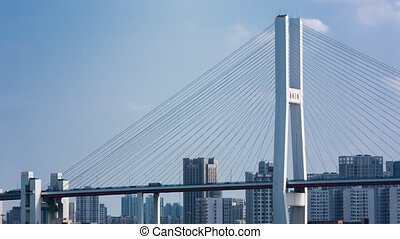 city bridge in Shanghai city