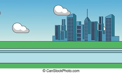 City buildings scenery HD - City buildings on day scenery...
