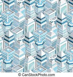 City Buildings Seamless Pattern