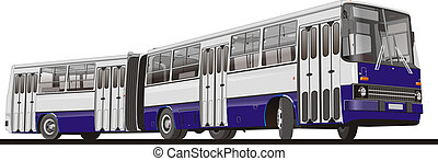 City Bus Articulated. Available EPS-10 vector format ...