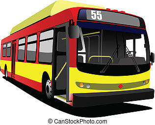 city bus. Coach. Vector illustrati