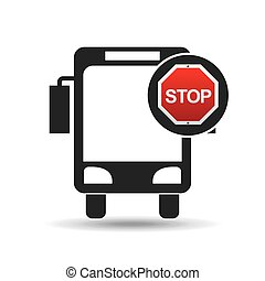 city bus stop road sign design