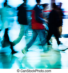 city business people abstract background