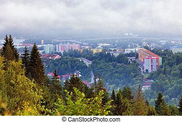 City Cadca in Slovakia