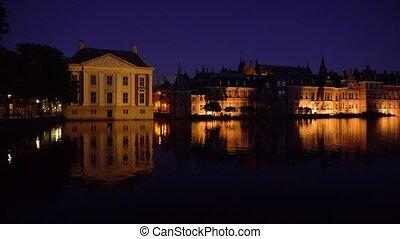 city center of Den Haag, Netherlands - Mauritshuis...
