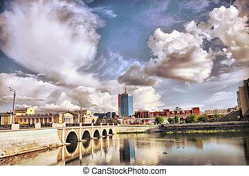 City centre Chelyabinsk - Quay in city centre Chelyabinsk in...