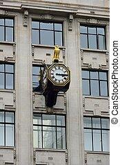 City clock at angle