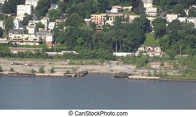 City Coastal Across River
