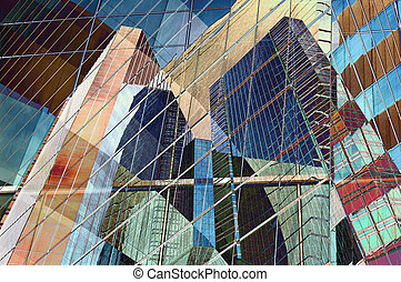 Abstract design of colorful modern city